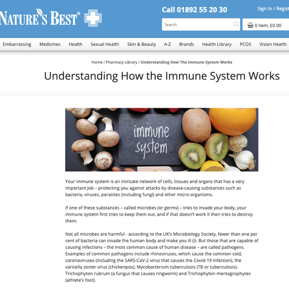 Nature's Best Pharmacy health library written by Christine Morgan